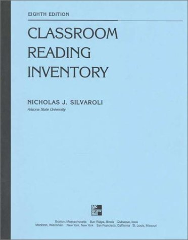 9780697356475: Classroom Reading Inventory, Form C: High School and Adult Education