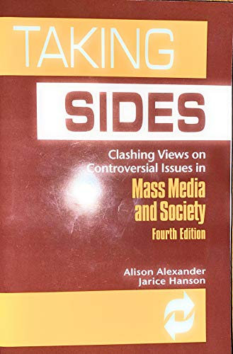 9780697357168: Taking Sides: Clashing Views on Controversial Issues in Mass Media and Society (4th ed)