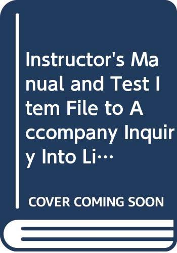 9780697360731: Instructor's Manual and Test Item File to Accompany Inquiry Into Life