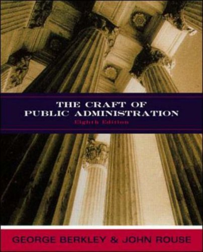 9780697385901: The Craft of Public Administration