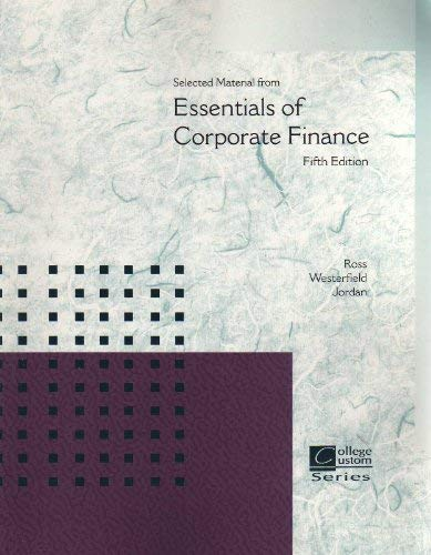 9780697774125: Selected Materials from Essentials of Corporate Finance