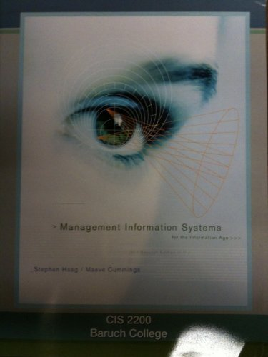 9780697782496: Management Information Systems for the Information Age (Baruch College Custom Edition)