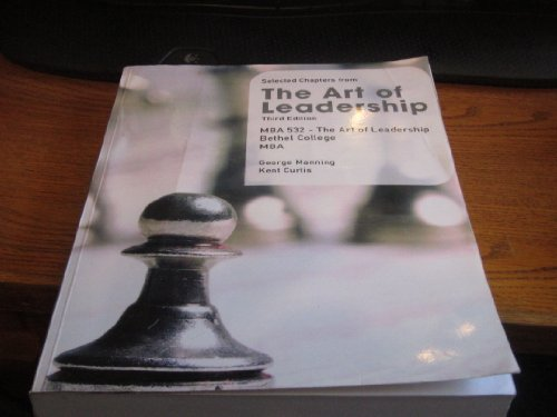 9780697786289: Selected Chapters From the Art of Leadership (MBA 532 Bethel)