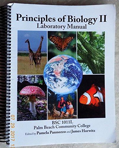 9780697786340: PRINCIPLES OF BIOLOGY ll, LABORATORY MANUAL BSC 1011L