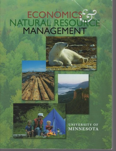 9780697789921: Economics & Natural Resource Management