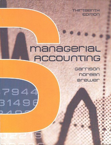 9780697789938: Managerial Accounting - Thirteenth Edition