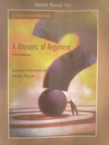 9780697789969: A Rhetoric of Argument