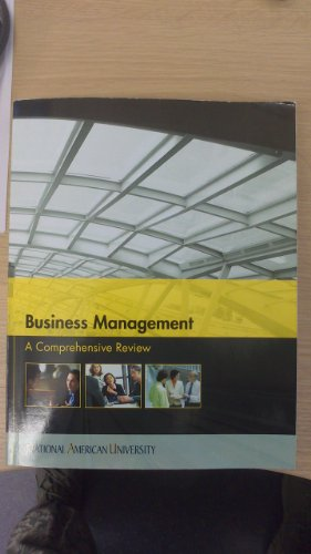 9780697792723: Business Management: A Comprehensive Review