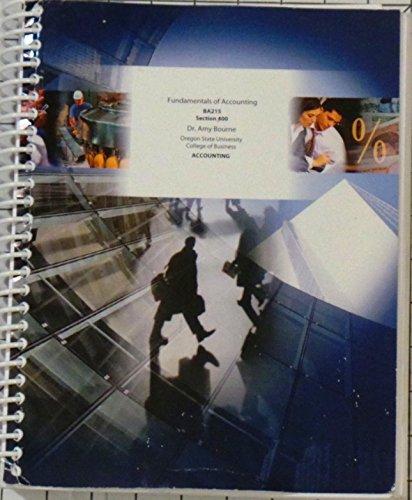 9780697805171: Fundamentals of Accounting BA215 Section 400