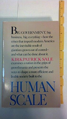 9780698110137: Human Scale