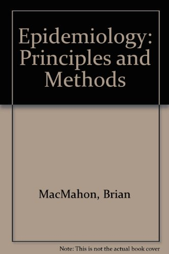 9780700001972: Epidemiology Principles and methods