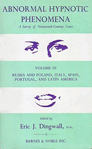 9780700013111: Abnormal Hypnotic Phenomena: v. 3: Survey of 19th Century Cases