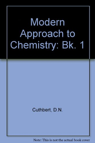 9780700200467: Modern Approach to Chemistry: Bk. 1 (The Modern approach series)