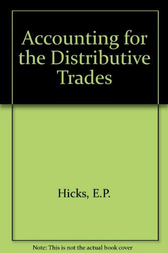 Accounting for the Distributive Trades