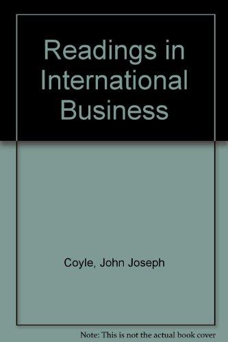 Readings in International Business (9780700220236) by John Joseph Coyle; Edward J. Mock
