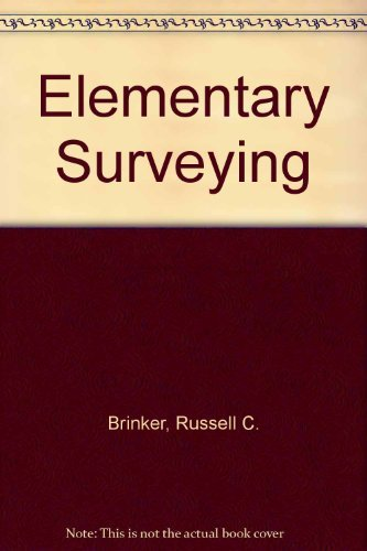 9780700222438: Elementary Surveying (International Textbooks in Civil Engineering)
