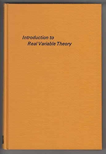 Introduction to Real Variable Theory: S. M. Shah;