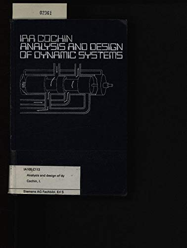 9780700225316: Analysis and design of dynamic systems