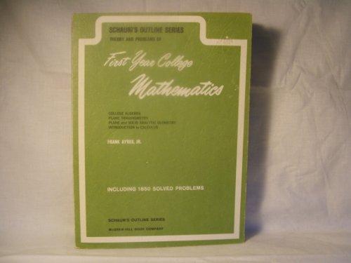 9780700265053: First Year College Mathematics