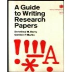 9780700502950: A Guide to Writing Research Papers