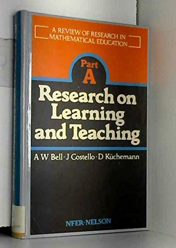 9780700506125: A Review of Research in Mathematical Education: Part A, Research on Learning and Teaching