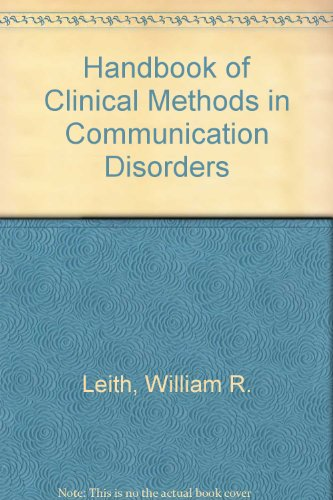 9780700506842: Handbook of Clinical Methods in Communication Disorders