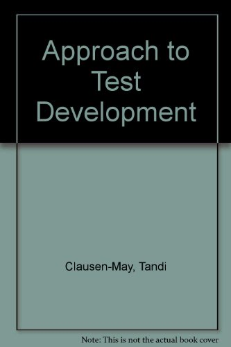 9780700530212: An Approach to Test Development