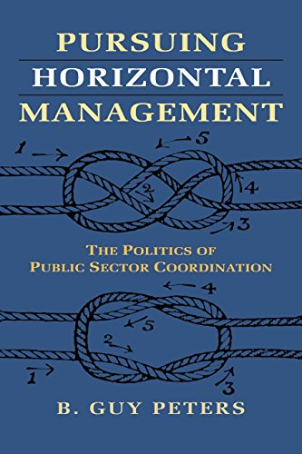 9780700620944: Pursuing Horizontal Management: The Politics of Public Sector Coordination (Studies in Government and Public Policy)
