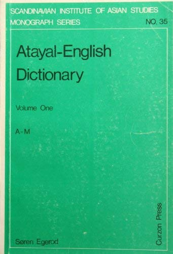 Atayal-English Dictionary (Scandinavian Institute of Asian Studies: Soren Egerod