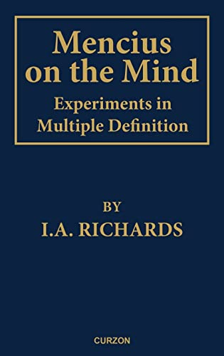 9780700704347: Mencius on the Mind: Experiments in Multiple Definition