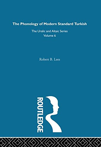 The Phonology Of Modern Standard Turkish: Lee, Robert B.