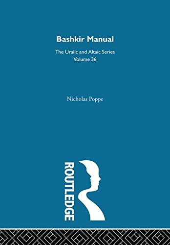 Bashkir Manual. Routledge. 1997.: POPPE, NICHOLAS.