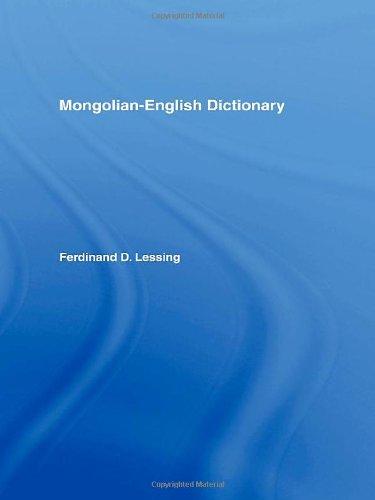 9780700710430: Mongolian-English Dictionary
