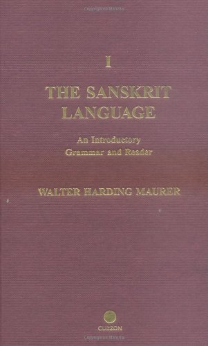 9780700713820: The Sanskrit Language: An Introductory Grammar and Reader. Revised Edition (2 Vol. Set)