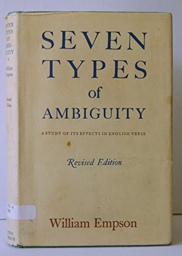 9780701106546: Seven Types of Ambiguity