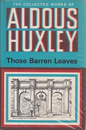 9780701108182: Those Barren Leaves