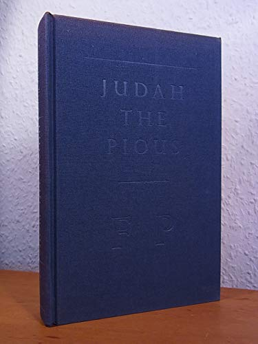 Judah the Pious (0701119934) by Francine Prose