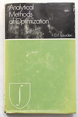 9780701120771: Analytical Methods of Optimization