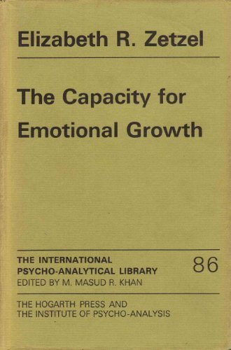 9780701203238: The capacity for emotional growth