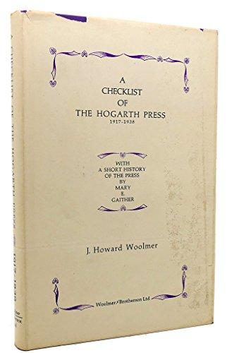9780701204181: A Checklist of the Hogarth Press, 1917-38
