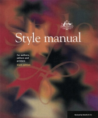 9780701636470: Style Manual: for Authors, Editors and Printers
