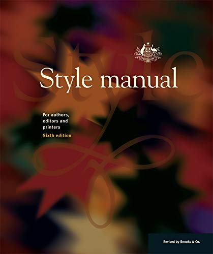 9780701636487: Style Manual: For Authors, Editors and Printers