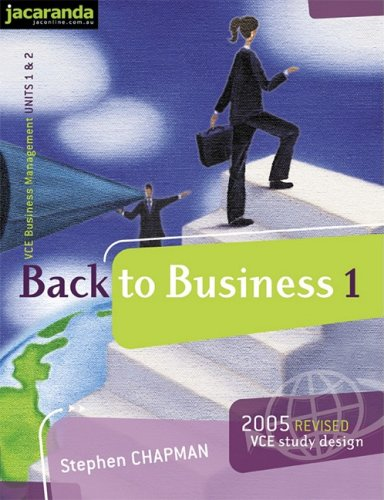 9780701637361: Back to Business 1 VCE Business Management: Units 1&2