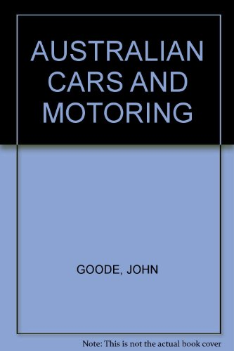 9780701804152: AUSTRALIAN CARS AND MOTORING