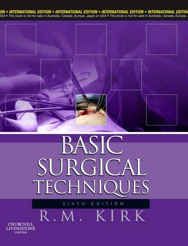9780702033902: Basic Surgical Techniques