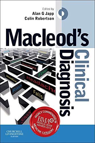 Macleod's Clinical Diagnosis, 1e: Japp MBChB(Hons) BSc(Hons)