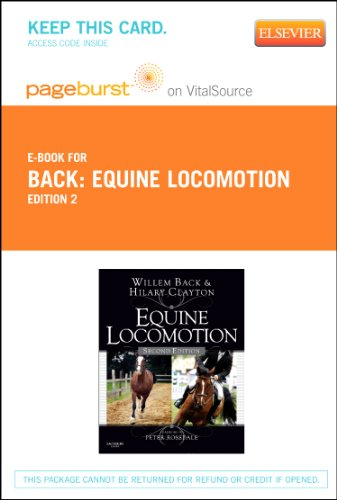 9780702058554: Equine Locomotion Pageburst on VitalSource Access Code