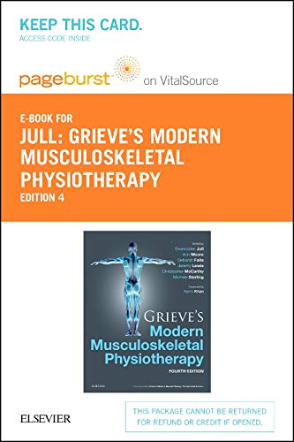 9780702066528: Grieve's Modern Musculoskeletal Physiotherapy - Pageburst E-book on Vitalsource Retail Access Card: Vertebral Column and Peripheral Joints