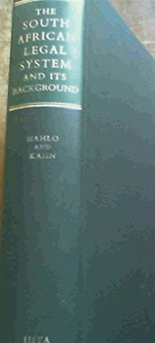 9780702103094: The South African Legal System and Its Background