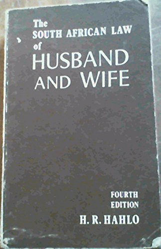 9780702106323: The South African law of husband and wife